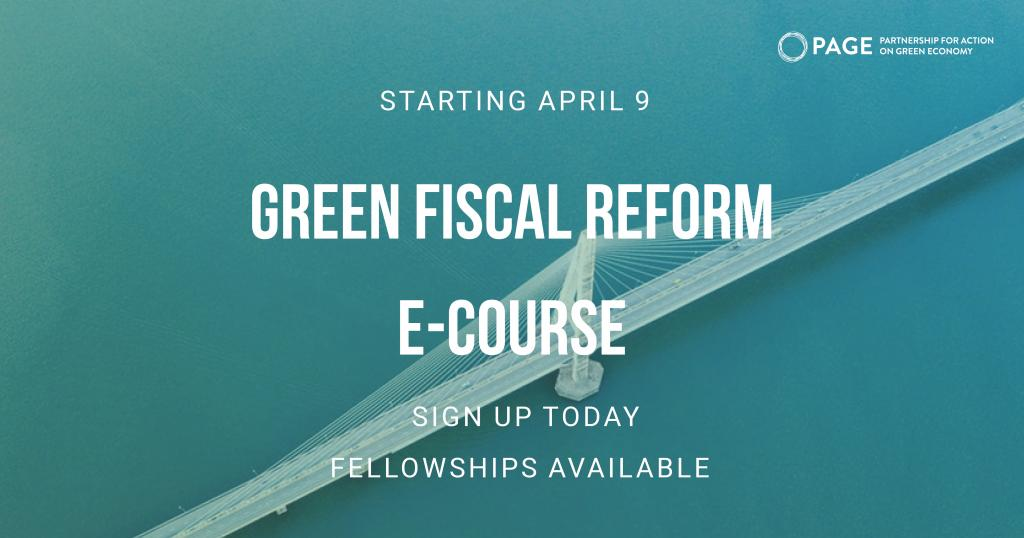 PAGE e-Learning Course on Green Fiscal Reform.