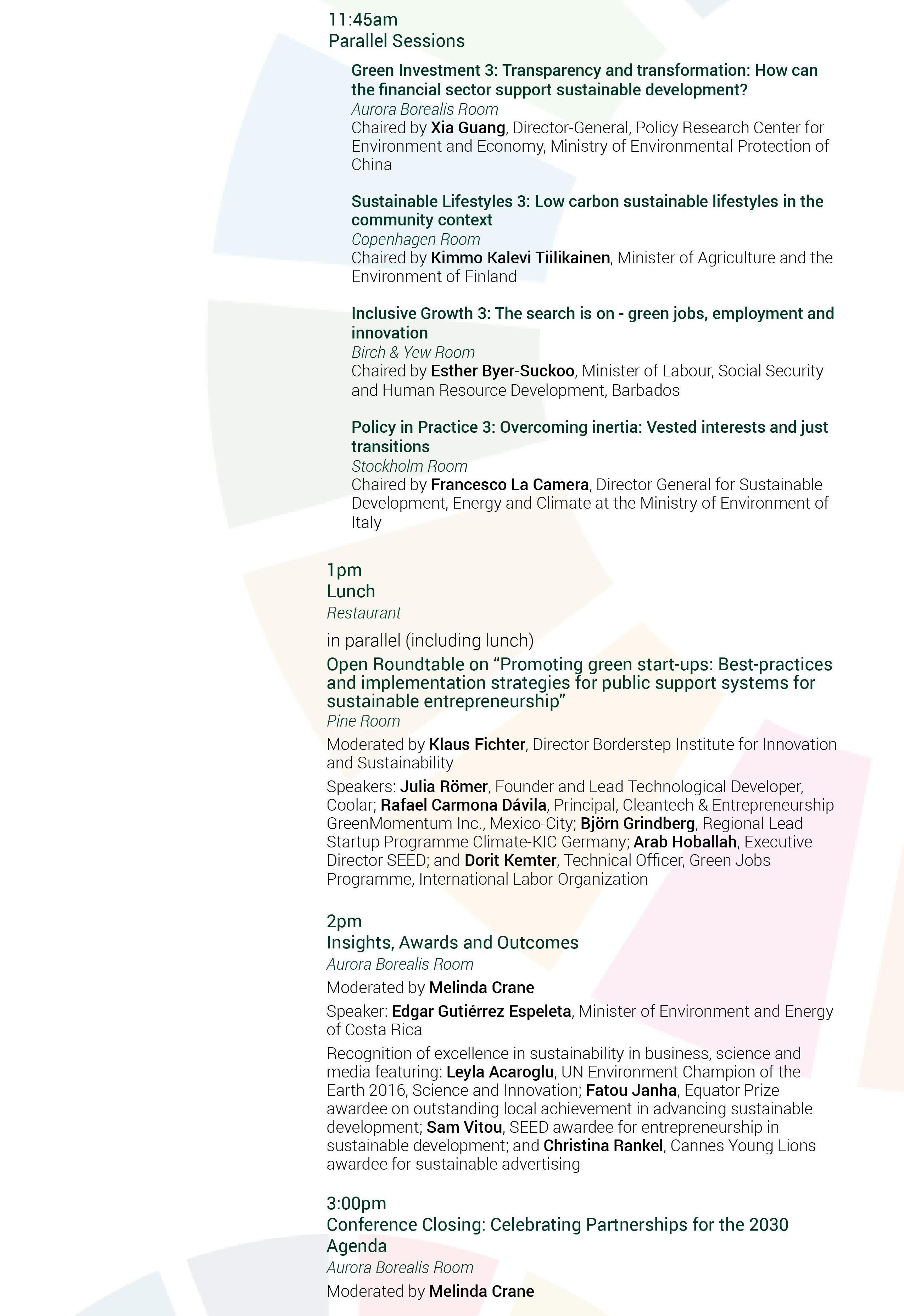 Conference Agenda | PAGE